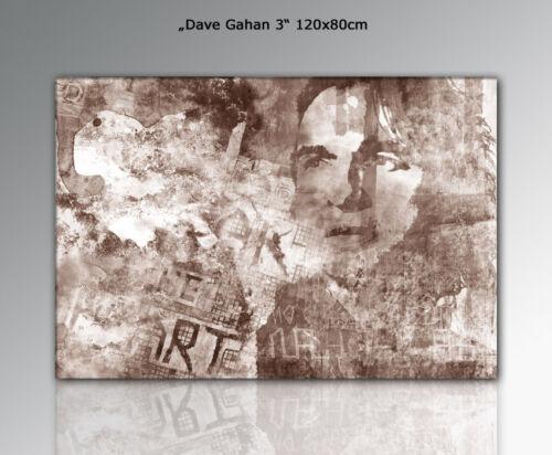 DEPECHE MODE auf Leinwand  Kunst WANDBILD DAVE GAHAN 120x80cm DESIGNBILDER
