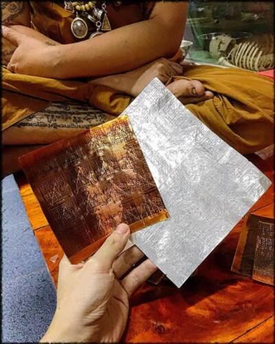 Thai Amulet Magic Bring Luck Call Money Wealth Billionaire Yant Phra Arjarn O