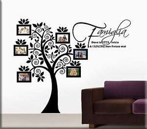 Adesivi murali portafoto albero famiglia cornici da parete wall stickers ws1231 ebay - Stencil parete albero ...