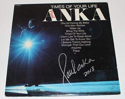 Singer Paul Anka Signed Authentic Autograph Record Vinyl Lp 7 W/coa Songwriter Records