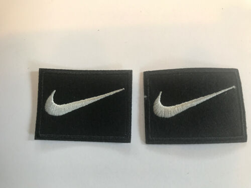 "2 Nike Square iron on PATCH patches new  Appx  2"" X 1.5"" Nice"