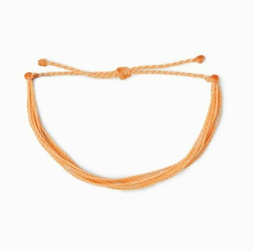 Orange Peach Adjustable Friendship Bracelet Water Proof Viva la vida NWT