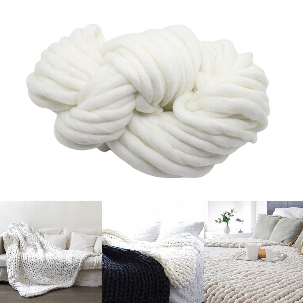 Warme Chunky Knit Decke Wollsofa wirft Kinder Schlafdecke zum Lesen