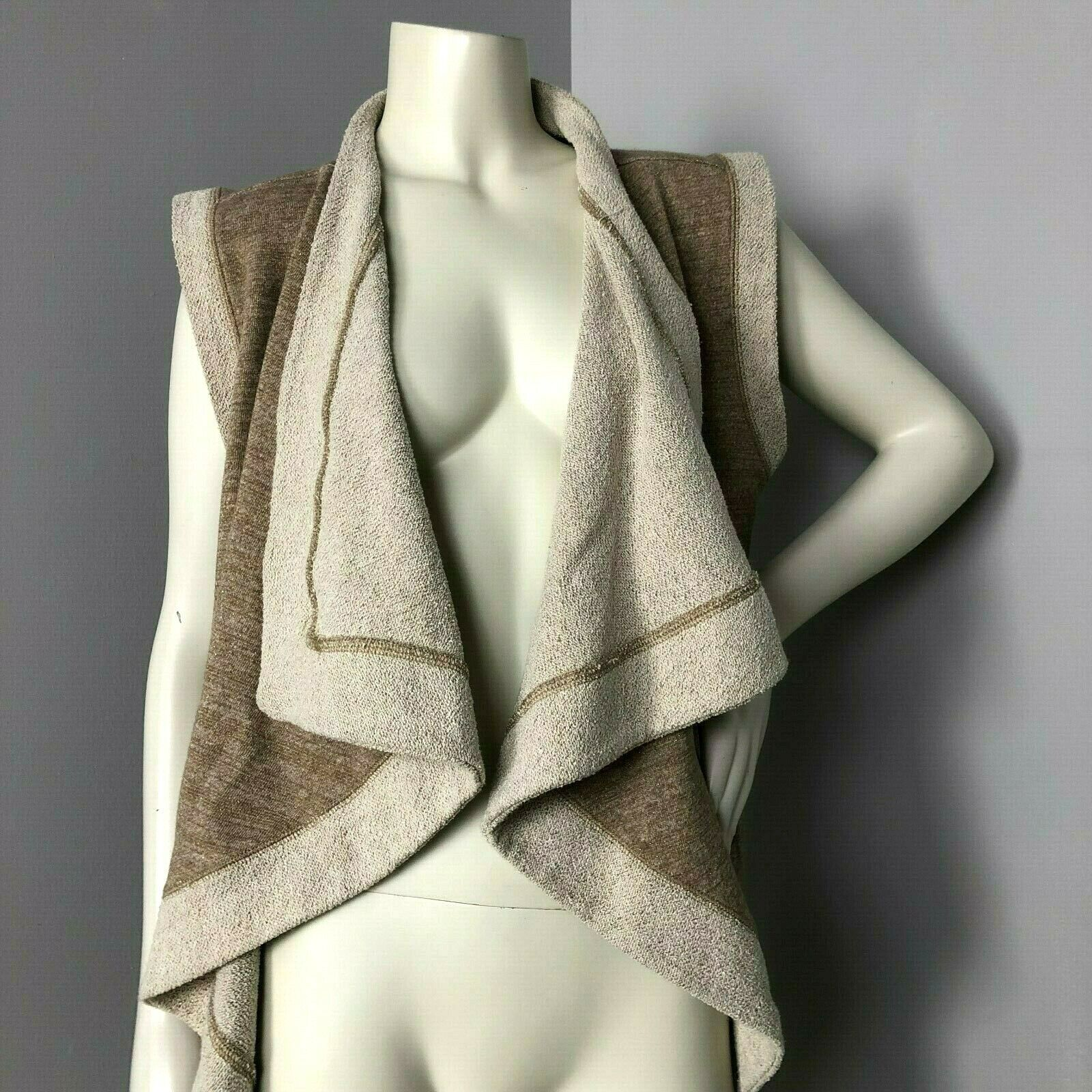 Matilda Jane gold Fleece Open Front Sleeveless Cardigan Vest Size M