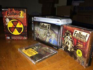 Fallout-3-lunch-box-Fallout-combo-box-amp-CD-Atomic-Edition-lot-of-4-items
