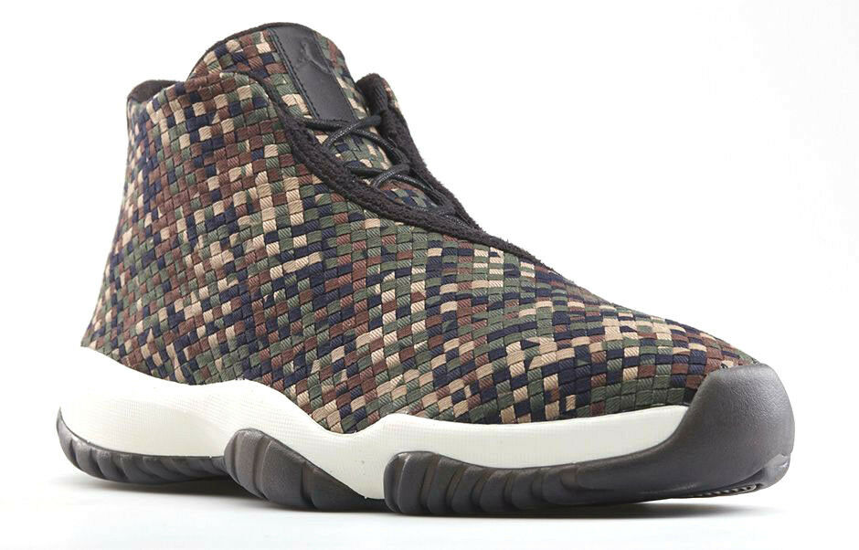 Nike Air Jordan Future DARK ARMY CAMO GREEN BLACK BROWN MILITARY 652141-301 7.5