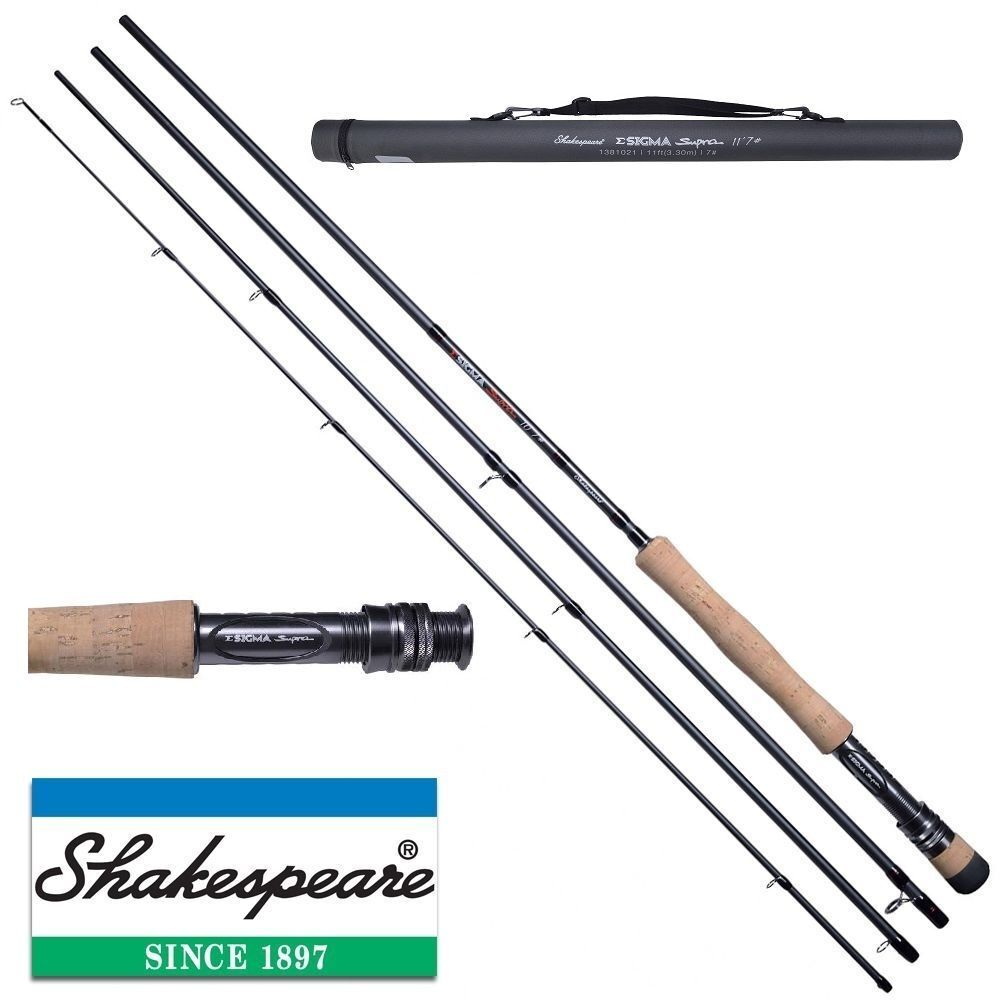 ShakespeareSigma Supra Fly Fishing Rod Carbon & Cordura Case - Trout / Salmon