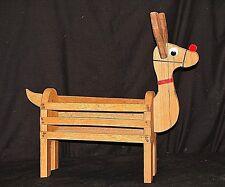 Wooden Reindeer Deer Basket Box Art Figurine Christmas Centerpiece Plant Stand