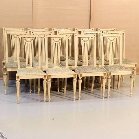 Andet, 14 creme- farvede stole  - Kr. 4800,-