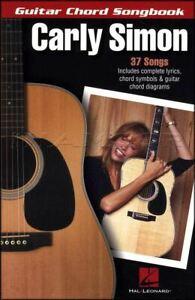 Carly Simon Guitar Chord Répertoire-afficher Le Titre D'origine