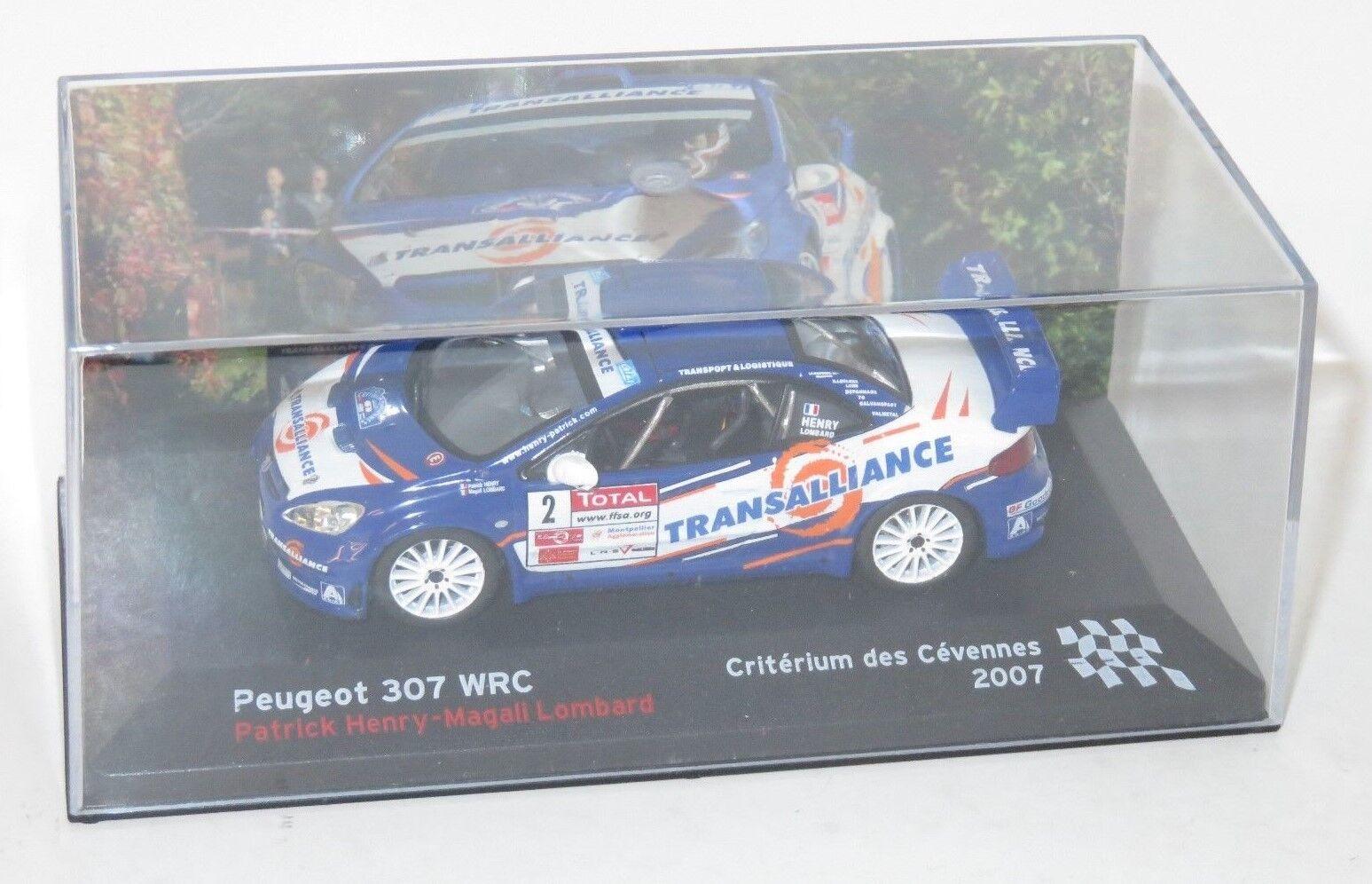 1 43 Peugeot 307 WRC  Rallye Criterium Criterium Criterium des Cevennes France 2007  P.Henry f02983