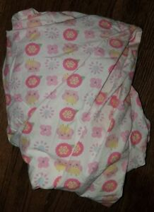 CIRCO-LOVE-N-AND-NATURE-BABY-TODDLER-FITTED-CRIB-SHEET-OWL-FLOWER-BIRD-PURPLE