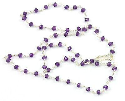 "Rose Pink Quartz Necklace Facet Chain Sterling Silver 14k Gold GF 18 19/"" Dainty"