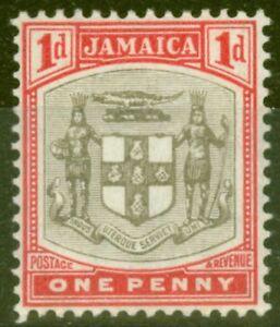 Jamaique-1905-1d-Gris-amp-Carmin-SG39-Fin-amp-Frais-Legerement-MTD-Excellent-Etat