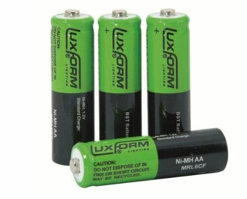 Battery Luxform Garden Solar Rechargeable AA Double A Batteries Pack of 4