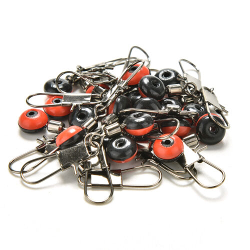 20x Fishing Swivel Accessories  Fishing Clip Snap Swivels Connectors = RAC