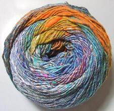 Noro Kibou #04 Yarn Cotton Wool Silk Self Striping 30% Off Teal Orange Blue