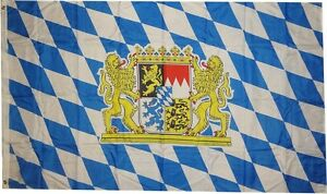 XXL-Flagge-Bayern-Loewenwappen-250-x-150-cm-Freistaat-Fahne-2-5m-x-1-5m-Sturm
