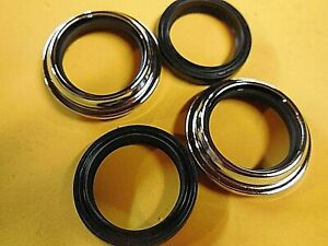 Fork-seals-amp-Chrome-wipers-Yamaha-85-86-XJ700-Maxim-85-87-XV700-Virago