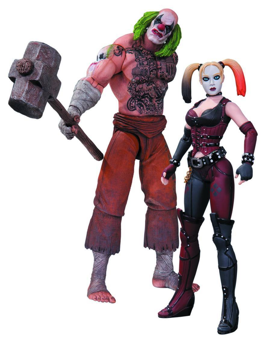 Batman Arkham City Mr. Hammer and Harley Quinn Action Figure 2-Pack SEALED