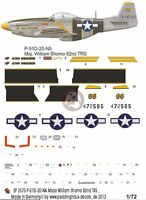 Peddinghaus 1/72 P-51d-20na Mustang the Flying Undertaker William Shomo 2575
