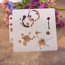 Goutte d'eau réutilisable pochoir Airbrush Home Decor Scrapbooking Album C qp