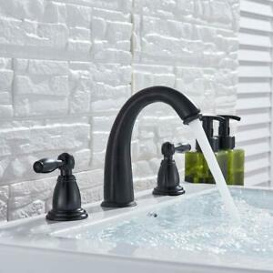 Widespread-Bathroom-Basin-Faucet-Oil-Rubbed-Bronze-Waterfall-Sink-Mixer-Tap