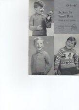 Knitting pattern Children's Twin Set & SWEATER GIRL'S 4ply A Maglia P&B 650