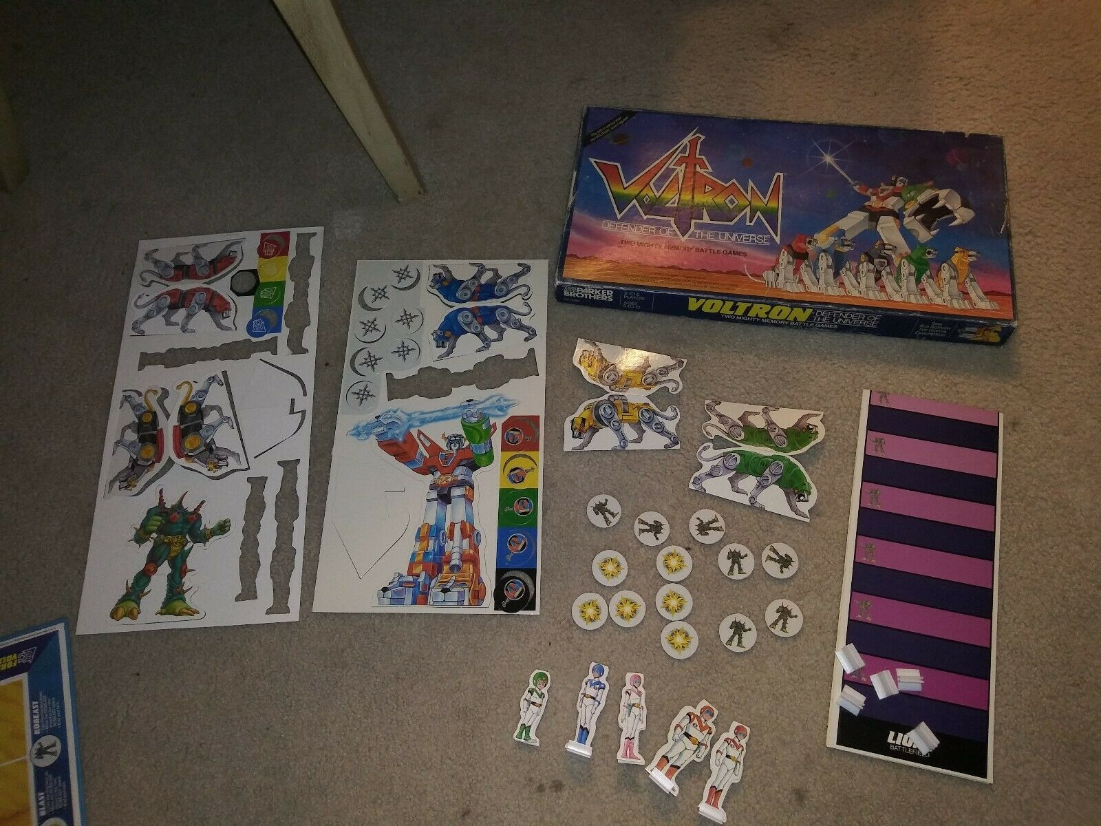Voltron Parker Brossohers Board Game Defender of the Universe 1985 Very Rare