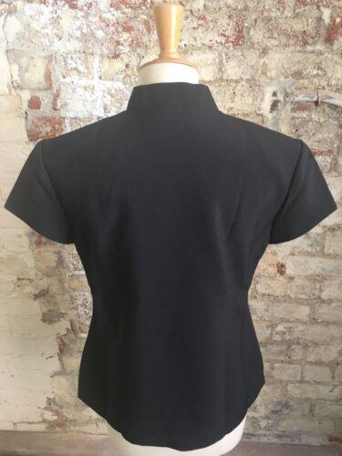 *SALE* Black V Neck Fully LinedPolyester Beautician//Healthcare Tunic size 20
