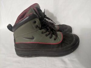 Nike-Woodside-ACG-Hiking-Trail-Duck-brown-green-Boots-524872-236-Size-6-5Y