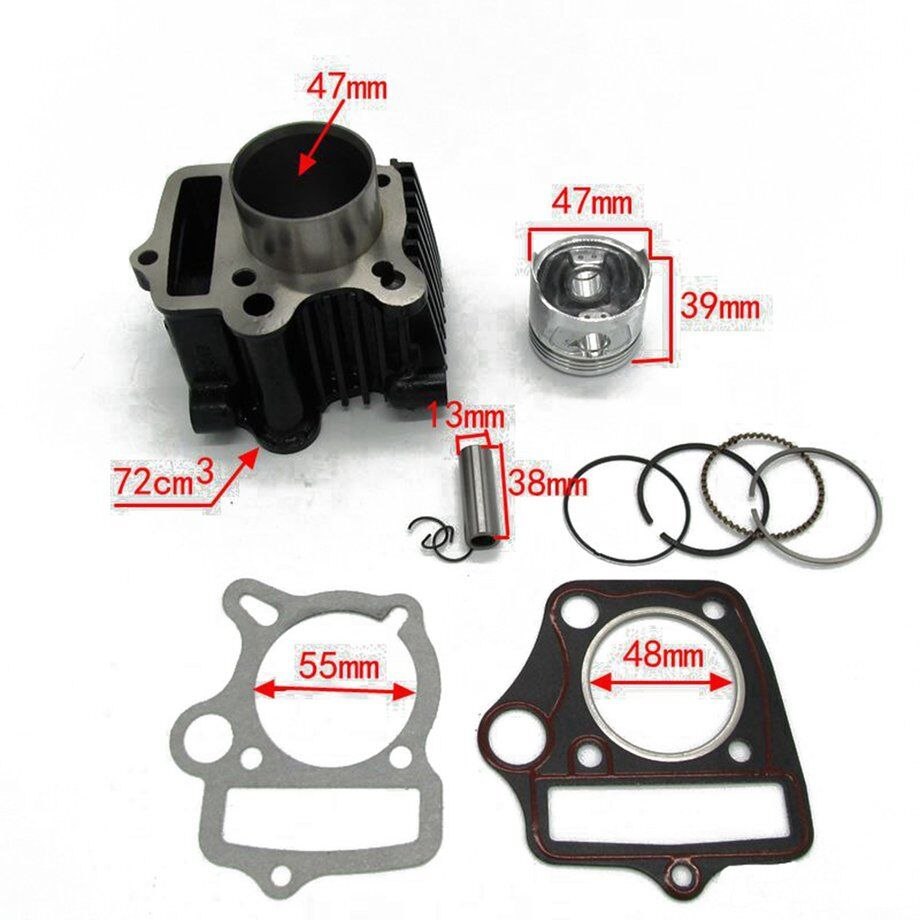 47mm Cylinder Piston Gasket Top End Kit for GY6 50CC 60CC 80CC Motorcycle ZP | Maßstab ist der Grundstein, Qualität ist Säulenbalken, Preis ist Leiter
