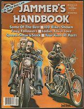 1980 JAMMER'S HANDBOOK NUMBER 9, CHOPPER PARTS DESIGN CATALOG HARLEY HONDA