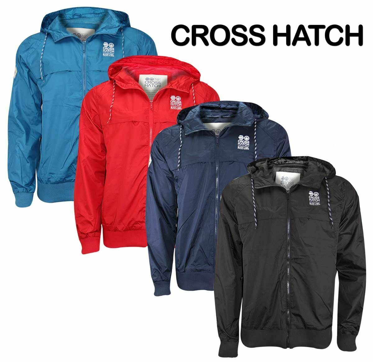men Cross Hatch Di marca A vento Giacca Cappotto con cappuccio Impermeabile