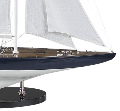 """America/'s Cup Rainbow J Class Yacht 1934 Wooden Model 26/"""" Sailboat New"""