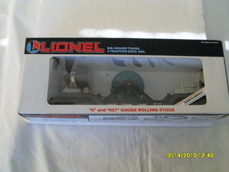 LIONEL O  AND  027 GAUGE ROLLING STOCK SEARCH LIGHTCAR