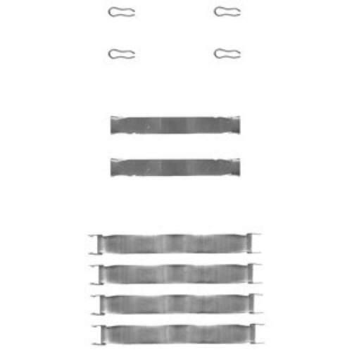 Montagesatz Anbausatz Federn für Bremsbeläge Bremsklötze DELPHI LX0019