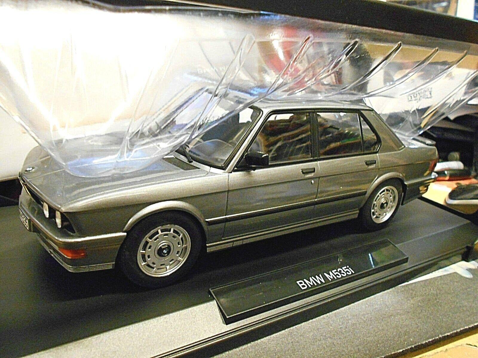 BMW serie 5er 535i M m535i 535 e28 1986 grigio grigio Norev RAR 1 18