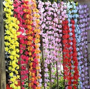 6-56ft-Artificial-Fake-Azalea-Flower-Vine-Plants-Garden-Floral-Decor-9-Colours