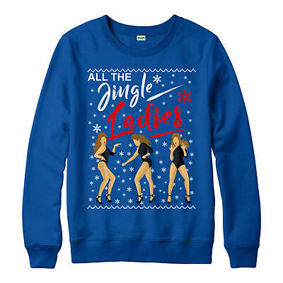 Womens Christmas Sweater Sweatshirt All The Jingle Ladies