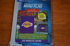 "LA Lakers Mini Garden/Window Flag - Size 15"" X 10.5"" - Official NBA Product New!"