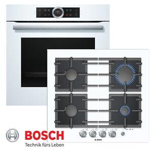 Details Zu Bosch Einbau Gasherd Weiss Autark Elektro Backofen Gas Glaskeramik Kochfeld