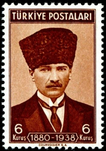 PHOTO MAGNET  Reproduction Turkey President Kemal Pasha 1939