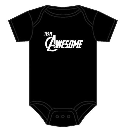 Marvel Avengers Babygrow équipe génial Baby Grow Asst Couleurs 0-18 mois NEUF