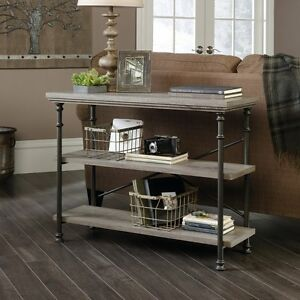 Fantastic Details About Behind Sofa Table Couch Console With Storage Shelves Rustic Industrial Furniture Uwap Interior Chair Design Uwaporg