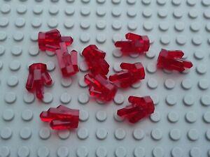 LEGO 10x Red Translucent Rock Crystal Gem Jewel 30385 New