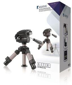 Konig-Compact-23cm-Small-Mini-Digital-Camera-amp-Camcorder-Tripod-Pan-amp-Tilt