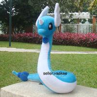 "Pokemon Center Go Dragonair Dragon Plush Toy Cuddly Stuffed Animal Soft Doll 26"""