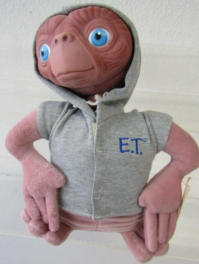 NWT 1998 Applause Universal ET Extra Terrestrial 12  Plush Toy Doll RUBBER FACE