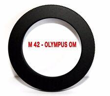 M42 - OM  Objektivadapter  M42 Objektiv Lens Adapter an -To  Olympus OM Kamera